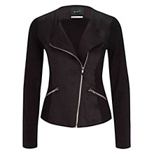 Buy Oui  Asymmetrical Zip Jacket, Black Online at johnlewis.com