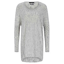 Buy Oui Assym Hem Tunic Knit Top, Grey Online at johnlewis.com