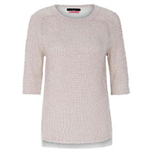 Buy Oui Lace Back Lurex Jumper, Ecru Online at johnlewis.com