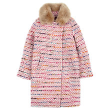 Buy Jigsaw Junior Girls' Tweed Faux Fur Coat Online at johnlewis.com