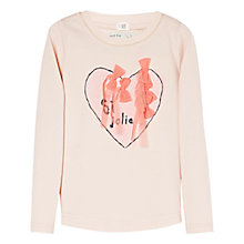 Buy Mango Kids Girls' Tulle Bow Long Sleeve Top, Pale Pink Online at johnlewis.com