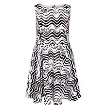 Buy John Lewis Girl Fashion Wiggle Stripe Dress, Black Online at johnlewis.com