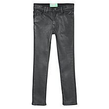 Buy Mango Kids Girls' Coated Skinny Jeans, Black Online at johnlewis.com