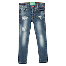 Buy Mango Kids Girls' Skinny Distressed Denim Jeans, Blue Online at johnlewis.com