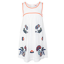 Buy John Lewis Girl Sleeveless Floral Embroidery Dress, White Online at johnlewis.com