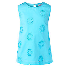 Buy John Lewis Girl Bright Broderie Cotton Top Online at johnlewis.com