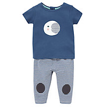 Buy Donna Wilson for John Lewis Baby Moon T-Shirt & Leggings Set, Blue Online at johnlewis.com