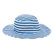 Buy John Lewis Children's Reversible Nautical Sun Hat, Blue/Pink Online at johnlewis.com