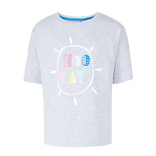 Buy Kin by John Lewis Girls' Hooray Relaxed Fit T-Shirt, Grey Marl Online at johnlewis.com