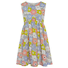 Buy John Lewis Girl Bow Yoke Dress, Multi Online at johnlewis.com