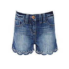 Buy John Lewis Girl Fashion Denim Shorts, Blue Online at johnlewis.com