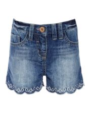 John Lewis Girl Fashion Denim Shorts, Blue, £14.00 - £16.00
