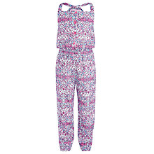 Buy John Lewis Girl Paisley Print Jumpsuit, Pink Online at johnlewis.com