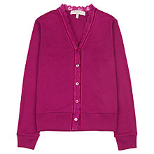 Buy Jigsaw Junior Girls' Heart Pointelle Cardigan Online at johnlewis.com