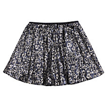 Buy Jigsaw Junior Girls' Sequin Skirt, Navy Online at johnlewis.com