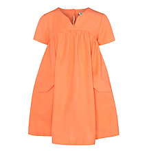 Buy Kin by John Lewis Girls' Pocket Dress, Coral Online at johnlewis.com
