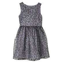 Buy Mango Kids Girls' Leopard Print Organza Dress, Silver Online at johnlewis.com
