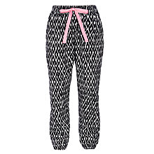 Buy John Lewis Girl Aztec Trousers, Black Online at johnlewis.com