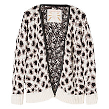 Buy Mango Kids Girls' Leopard Print Cardigan, Cream/Black Online at johnlewis.com