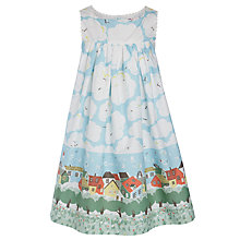Buy John Lewis Girl Clouds & Houses Dress, Multi Online at johnlewis.com