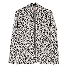 Buy Mango Kids Girls' Leopard Print Blazer, Cream/Black Online at johnlewis.com