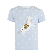 Buy John Lewis Girl Spot Horse Motif T-Shirt, Pale Blue Online at johnlewis.com