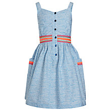 Buy John Lewis Girl Pocketed Flare Sun-Dress, Blue Online at johnlewis.com