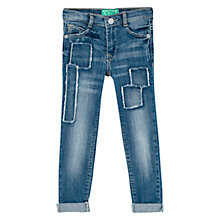 Buy Mango Kids Girls' Patch Skinny Denim Jeans, Mid Blue Online at johnlewis.com