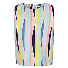 Buy Kin by John Lewis Girls' Stripe Sleeveless Top, Multi Online at johnlewis.com