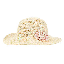Buy John Lewis Girl Straw Cloche Hat, Cream Online at johnlewis.com
