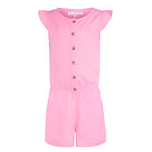 Buy John Lewis Girl Fashion Playsuit, Pink Online at johnlewis.com