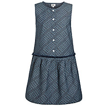 Buy Kin by John Lewis Girls' Buttoned Dress, Chambray Online at johnlewis.com