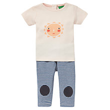 Buy Donna Wilson for John Lewis Baby Sun T-Shirt & Leggings Set, Pink Online at johnlewis.com