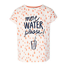 Buy Kin by John Lewis Girls' More Water Please T-Shirt, Blush Online at johnlewis.com