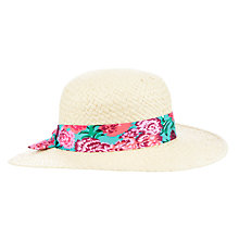 Buy John Lewis Girl Floppy Straw Hat, Cream/Multi Online at johnlewis.com