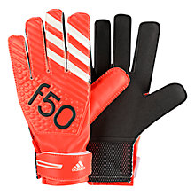 Buy Adidas Junior F50 Goalkeeper Gloves, Red/Black Online at johnlewis.com