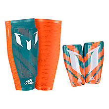 Buy Adidas Messi 10 Shin Guards, Orange Online at johnlewis.com