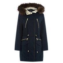 Buy Warehouse Clean Parka, Navy Online at johnlewis.com