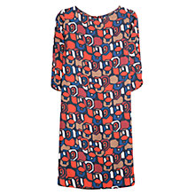 Buy Mango Geometric Print Flowy Dress, Bright Red Online at johnlewis.com