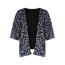 Buy Warehouse All-Over Sequin Kimono, Midnight Online at johnlewis.com