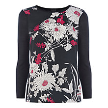 Buy Warehouse Oriental Floral Jumper, Navy Online at johnlewis.com