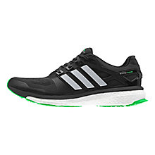 Buy Adidas Energy Boost Men's Running Shoes, Core Black/Silver Online at johnlewis.com