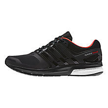 Buy Adidas Questar Boost Techfit Men's Running Shoes, Black/Red Online at johnlewis.com