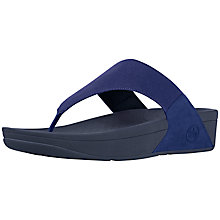 Buy FitFlop Lulu Canvas Flip Flops, Navy Online at johnlewis.com