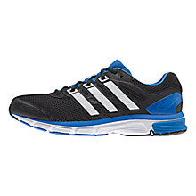 Buy Adidas Nova Stability Men's Running Shoes, Core Black/Blue Online at johnlewis.com