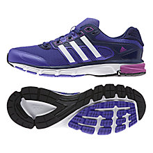 Buy Adidas Nova Cushion Women's Running Shoes, Purple/White Online at johnlewis.com