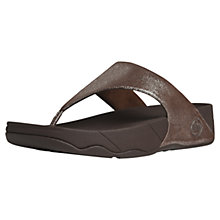 Buy FitFlop Lulu Shimmer Leather Toe Post Sandals, Bronze Online at johnlewis.com