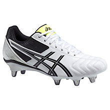 Buy Asics Lethal Tackle Men's Rugby Boots, White/Black Online at johnlewis.com
