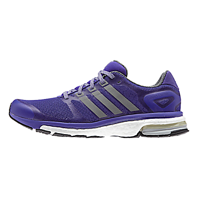 Adidas Adistar Boost Glow Women's Running Shoes, Dark Marine/Bluebird