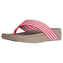 Buy Fitflop Surfa Toe Post Sandals, Raspberry Online at johnlewis.com